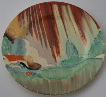 Large Clarice Cliff Bizarre Delecia Plate Forest Glen Design